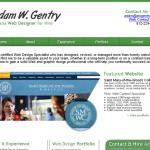 AWGentry Website Mockup
